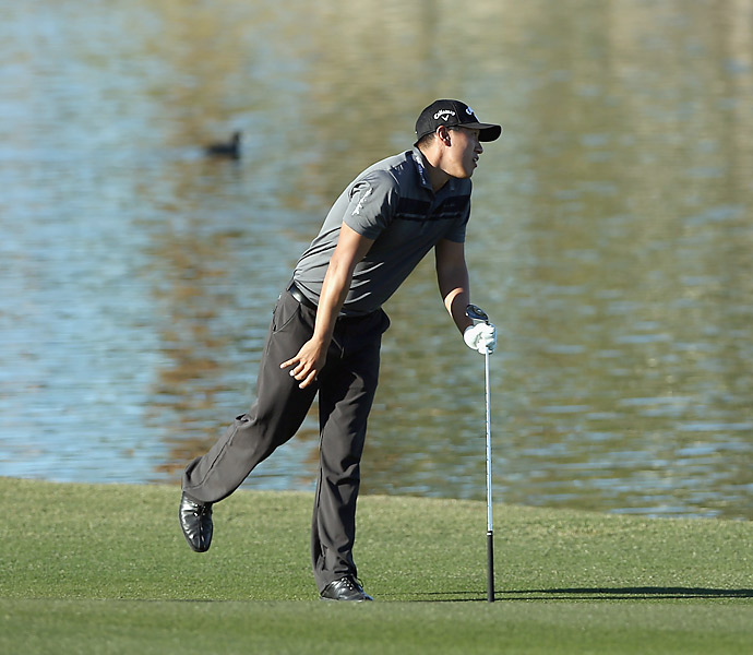 James Hahn made nine birdies on the Palmer Course at PGA West to tie for the lead.
