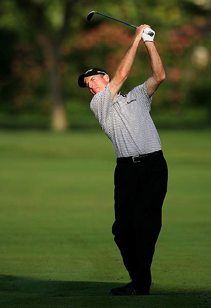 Jim Furyk opened his first round with a bogey, but several birdies left him at two under par.