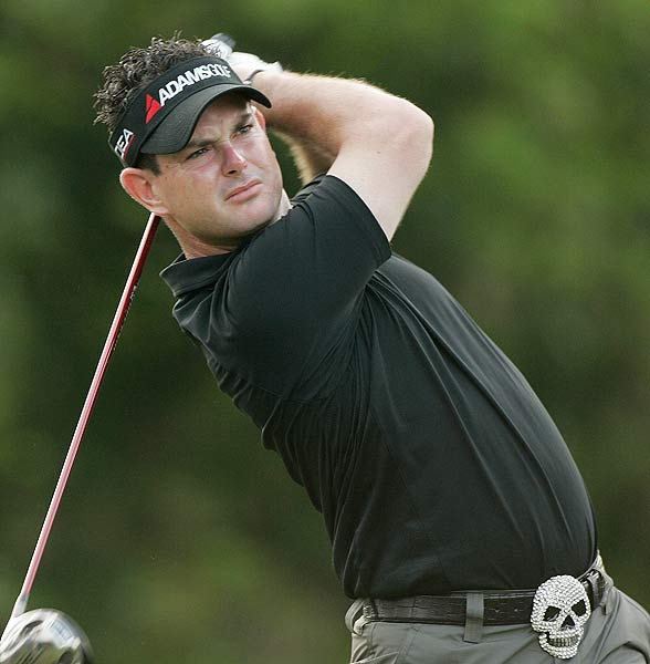 Rory Sabbatini eagled the final hole to finish at four under par.