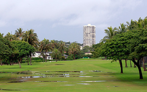 The ninth fairway at Waialae Country Club.