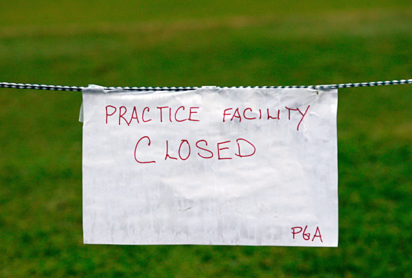In addition to the course, all practice facilities at the club were closed on Thursday.