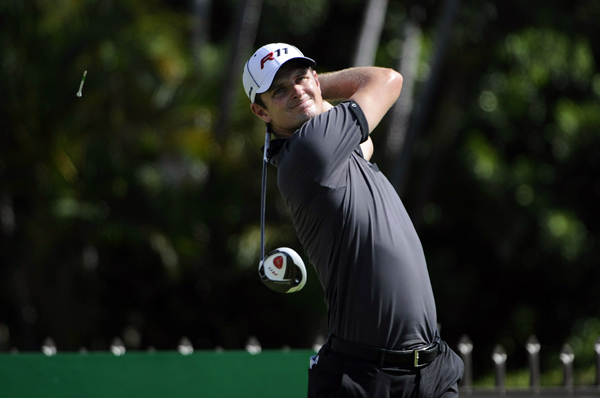 Justin Rose is tied for second after a 5-under 65.