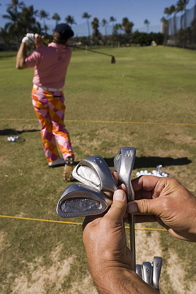 John Daly was the talk of the tournament in Hawaii -- and for the first time in a while it had nothing to do with his choice of pants. He opted to play 24-year-old wedges with square grooves, allowed due to a loophole in the new groove rules.