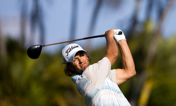 Adam Scott shot a 30 on the back nine to tie for second.