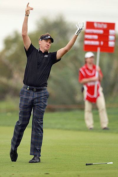 Ian Poulter shot a two-under 70 in the second round but is one over for the tournament.
