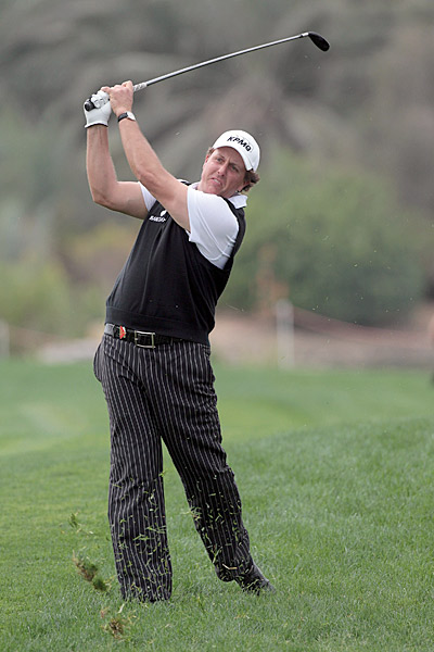 Phil Mickelson had four birdies on Friday, finishing two under for the day.