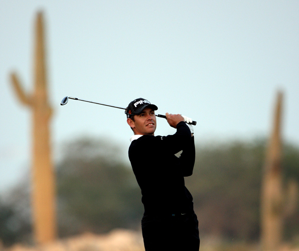 Second Round: 2009 Qatar Masters Louis Oosthuizen shot a 7-under 65, and he finished the day with a three-shot lead.