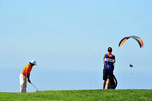 Paragliders are a constant distraction around Torrey Pines.