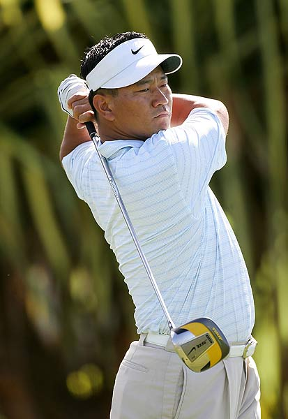 Three bogeys and two double bogeys left K.J. Choi at six over par.