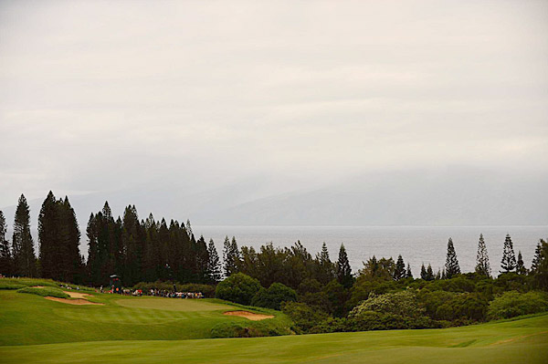 The ocean can be seen from most of the holes at Kapalua.