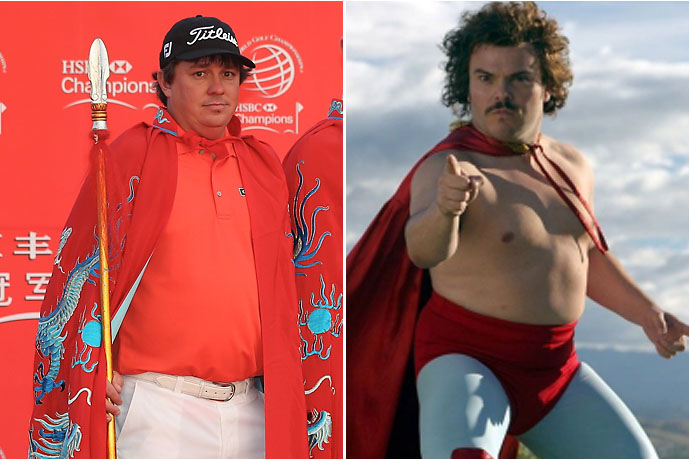 Jason Dufner and Nacho Libre
