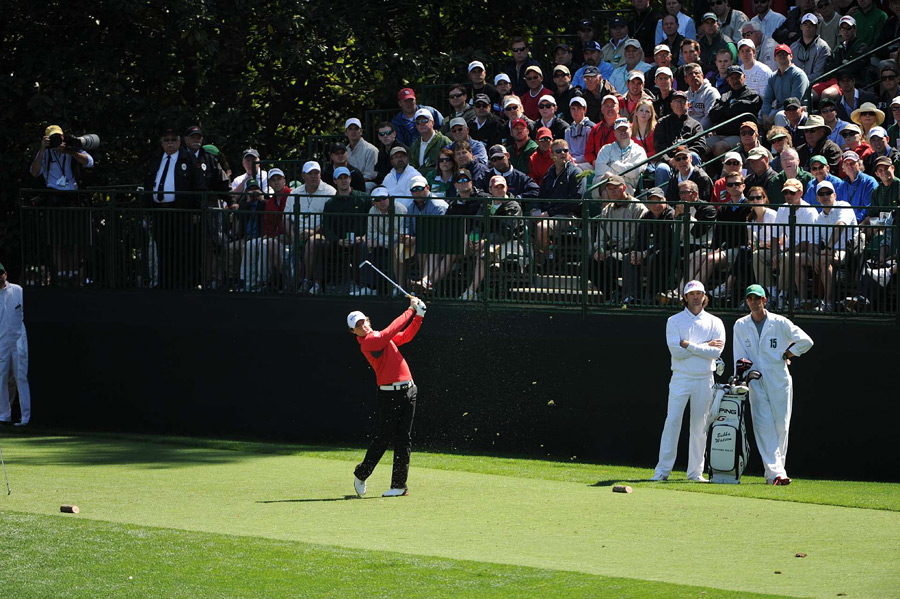 Rory McIlroy is only one shot off the lead after a three-under 69.