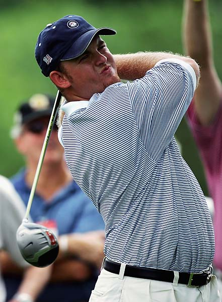 Like Anthony Kim, J.B. Holmes played on the winning side at the 2005 Walker Cup [in photo] and the 2008 Ryder Cup.