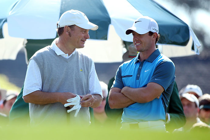 Jeff Knox played as a marker with Rory McIlroy in 2014, and beat him.