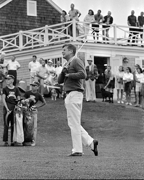 John F. Kennedy kept his love for the game secret after Eisenhower was criticized for playing so much, but Kennedy eventually used the game to his benefit. When he was accused of sneaking away for, ahem, extra curricular activities, aides said he was simply out playing golf.