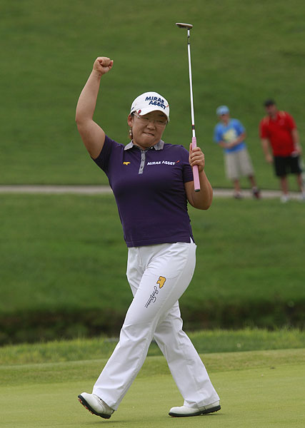 Ji Yai Shin started the day seven strokes behind the leaders, but rallied in the final round and beat Angela Stanford and Sun Young Yoo in a three-way playoff.