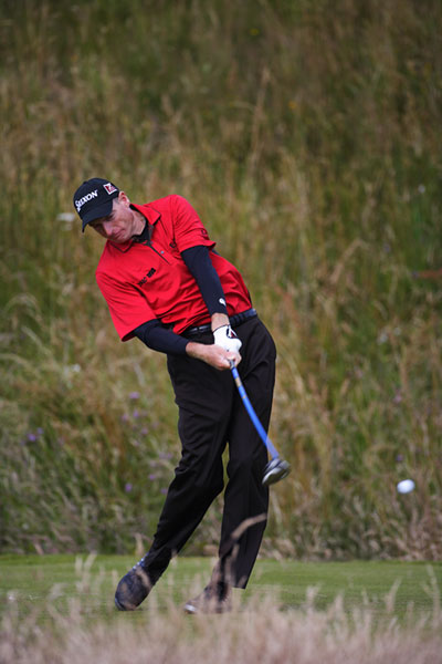 Jim Furyk took advantage of the solid course conditions and shot a three-under 67.