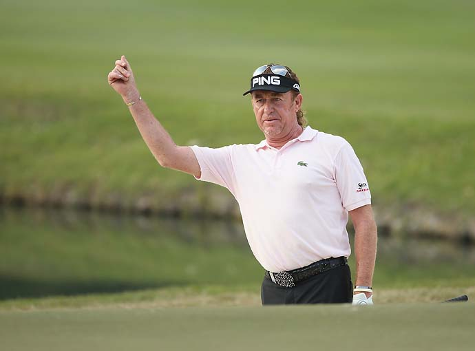 """I am the last of the caddie players.""                       --Miguel Angel Jimenez on starting in golf as a caddie."