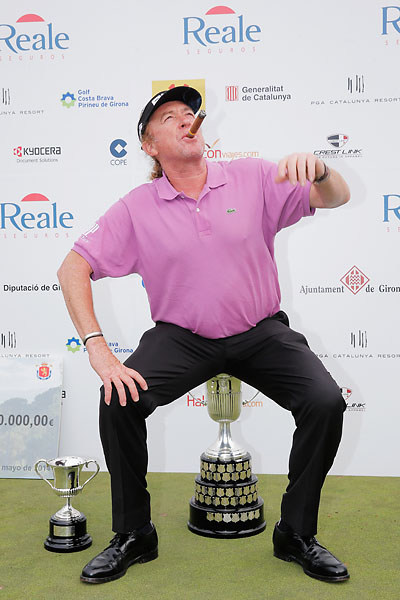 """There's no words to describe what it means to me, you need to be into my skin but I'm not going to let you.""                           --Miguel Angel Jimenez on winning the Spanish Open to become the European Tour's first over-50 winner."