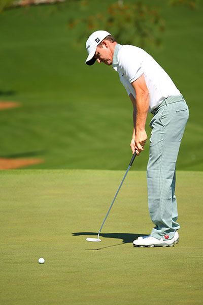 FedExCup points leader Jimmy Walker was in the group tied for fourth at -2. He birdied 14, 15, 16 and 17.