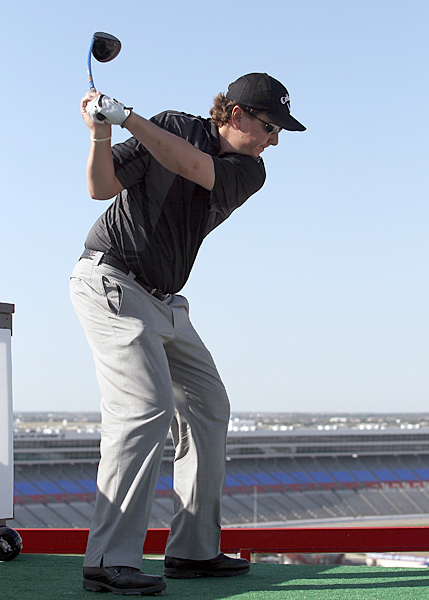 Henry crushed his drive 410 yards to win the long-drive portion of the competition.
