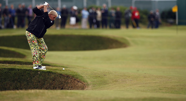Daly made his return to major championship play at the 2009 British Open at Turnberry. Daly made sure to bring along his colorful slacks as he ripped his way to a tie for 27th.