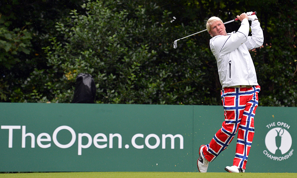 John Daly, the 1995 Open champ, shot a two-over 72.