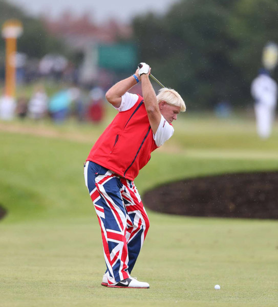 John Daly dressed to impress the local fans.