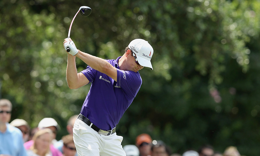 Zach Johnson was in sole possession of the lead after firing a six-under 64 in the morning.