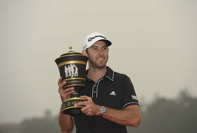 Dustin Johnson wins the HSBC Champions. We only wish John Keats was still around to write about about the World Golf Championship trophies.