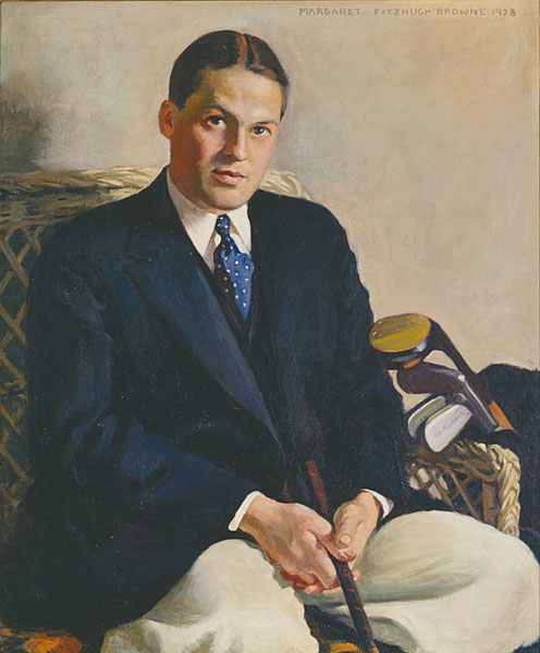Margaret Fitzhugh Browne (American, 1884-1972)                           Portrait of Bobby Jones                           1928                            Oil on canvas