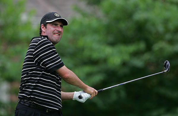 Jose Maria Olazabal is two strokes back after a bogey-free 66.