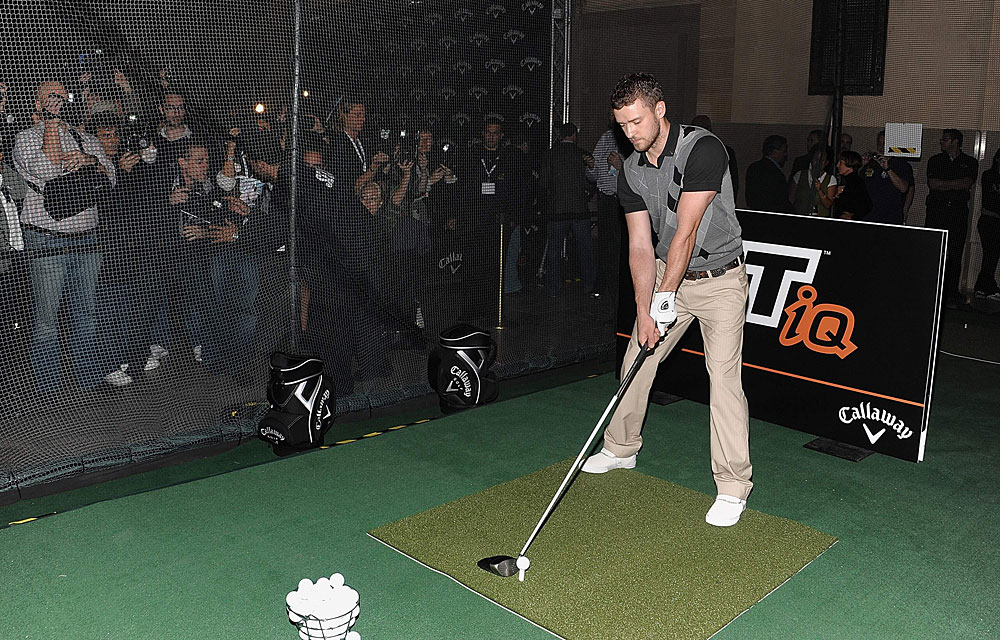 Timberlake, at Grand Central Terminal in New York City in 2008, is sponsored by Callaway.