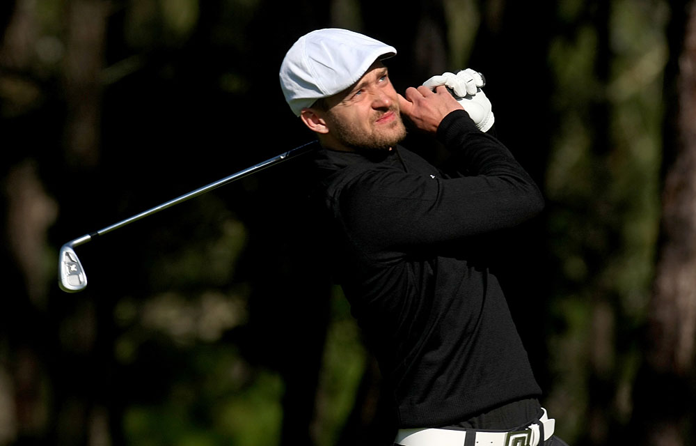 When it fits in his schedule, Timberlake plays in the Pebble Beach Pro-am.