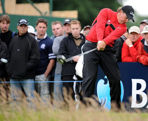 First Round of the Scottish Open                       Phil Mickelson, gearing up for the British Open, shot a first-round 71.