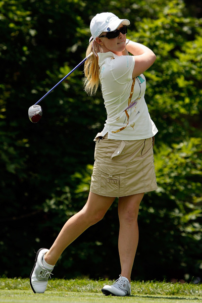 Morgan Pressel shot a four-over 75.