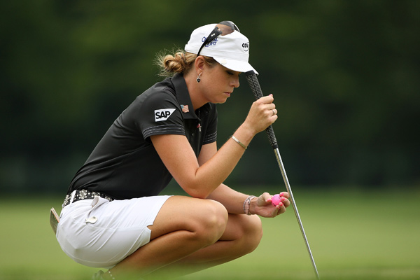 Paula Creamer fell from second place to a tie for 17th after a 79.