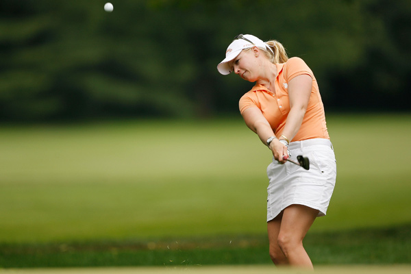Morgan Pressel made five birdies and three bogeys for a two-under 69.