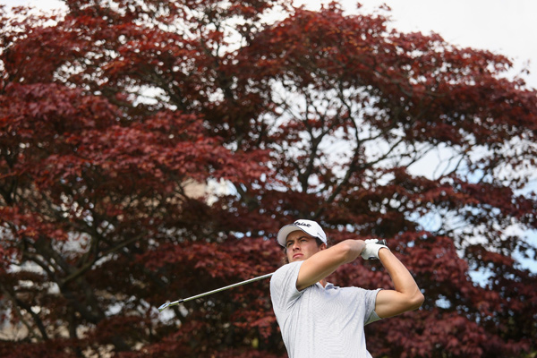 Adam Scott shot a four-over 39 on the back nine to finish with a 73.