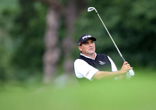 Angel Cabrera started the day in the lead, but he imploded on the back nine and finished with a 78.