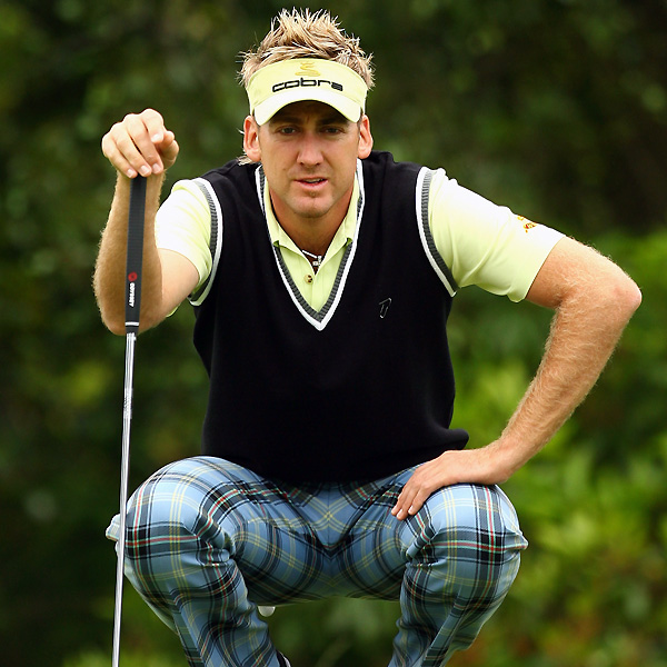 Ian Poulter bogeyed No. 18 to shoot a two-under 69.