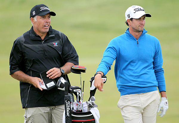 Adam Scott has Tiger Woods's caddie, Steve Williams, on the bag again this week.