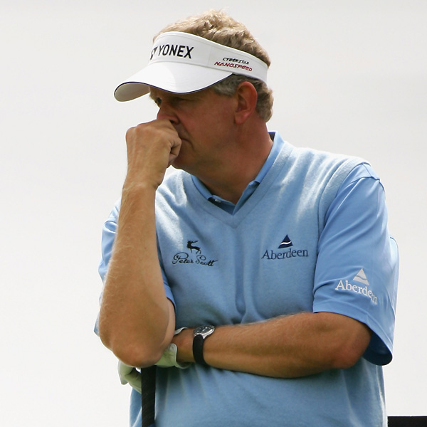 Colin Montgomerie shot a three-over 74 and missed the cut a week after winning the European Open.