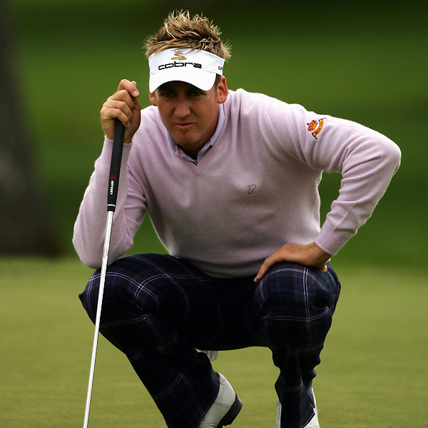 Ian Poulter made an eagle on No. 3 on his way to a four-under 67.