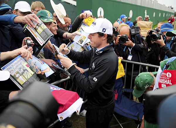 McIlroy's autograph is in high demand after his win last month at the U.S. Open.
