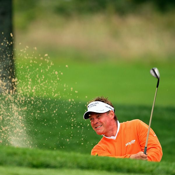 Darren Clarke made bogeys on 15, 16 and 17 to shoot 74.