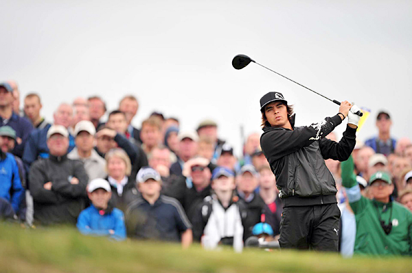 Rickie Fowler shot even par in his second-career start at the Open.