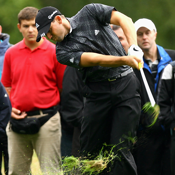 Sergio Garcia birdied 18, but it was only good for an even-par 71.