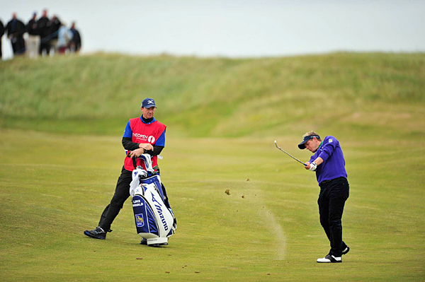 Luke Donald had an up-and-down round, but he managed to finish with a 1-over 71.