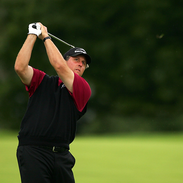 """Despite the strong wind, Mickelson managed to hit every fairway except one, the 13th. """"I should have played that more carefully for the stats because I've never hit all the fairways,"""" he said."""